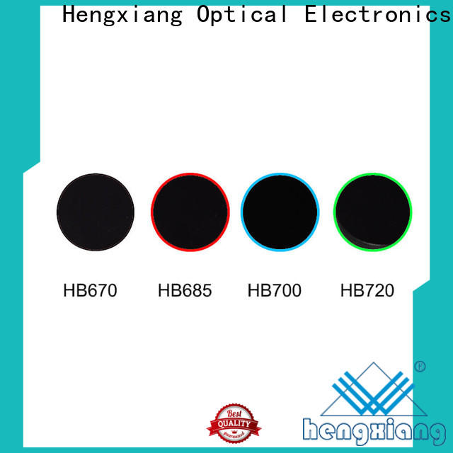 HENGXIANG professional colored lens filters with good price for UV or IR detection system