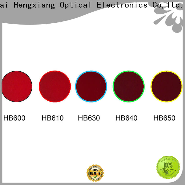 HENGXIANG professional colored lens filters with good price for optical instruments