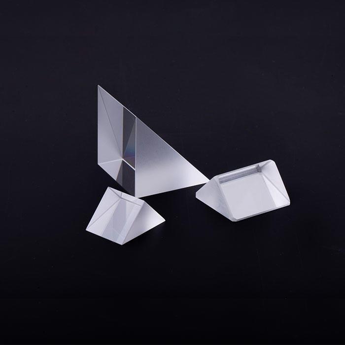 Factory supply Glass Optical Triangular Prism Lenses triangular righ tangle prism