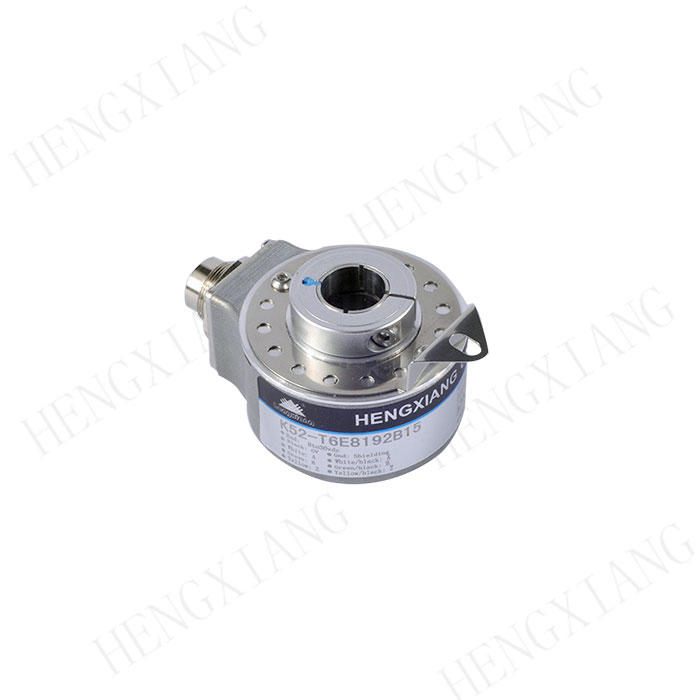 K52 Hollow Shaft Encoder Mechanical encoder heavy duty encoder blind hole 8/10/12/14/15mm 3600ppr 5000ppr 5760ppr voltage output motor sensor