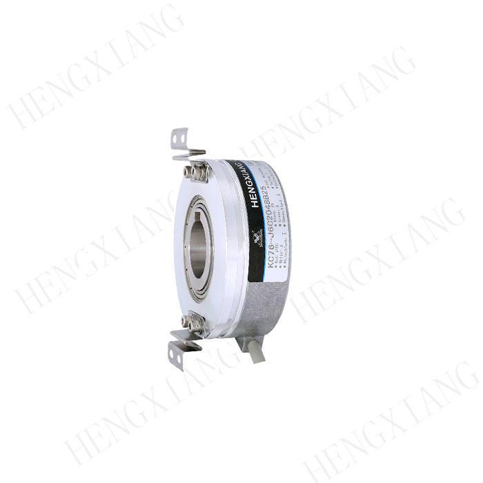 Through Hole Optical Shaft Encoder , KC76 Keyway Stainless Steel Encoder