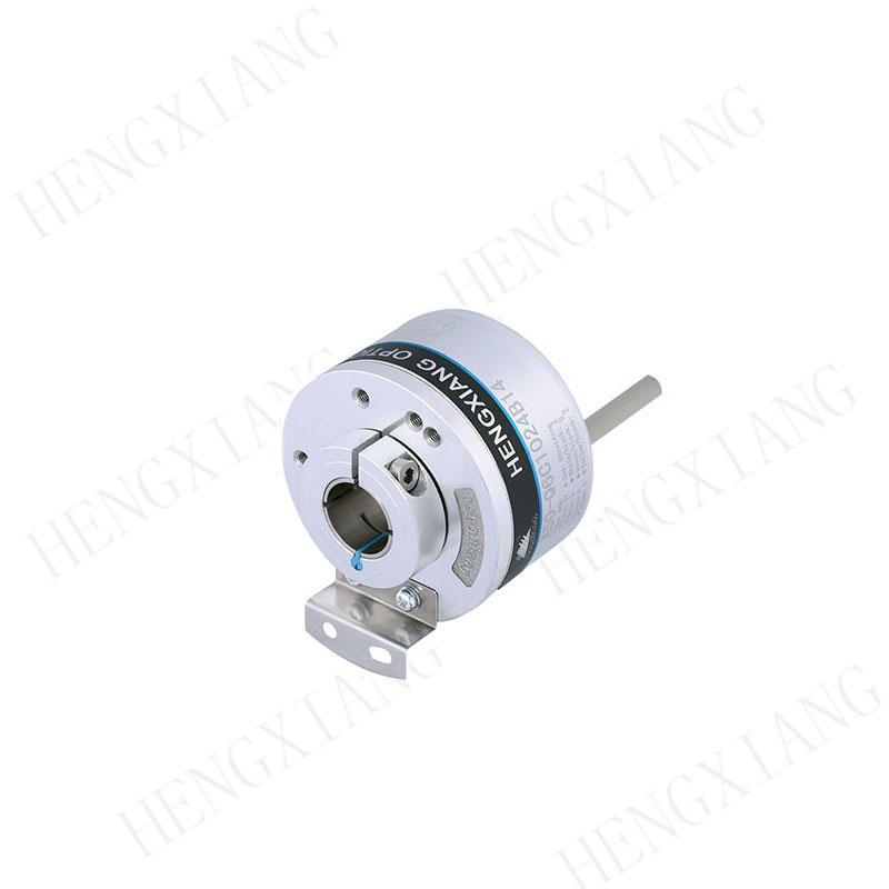 K50 Optical Position Encoder , Hollow Shaft Optical Encoder 14mm Line Driver Output 5V DC 5000 Resolution