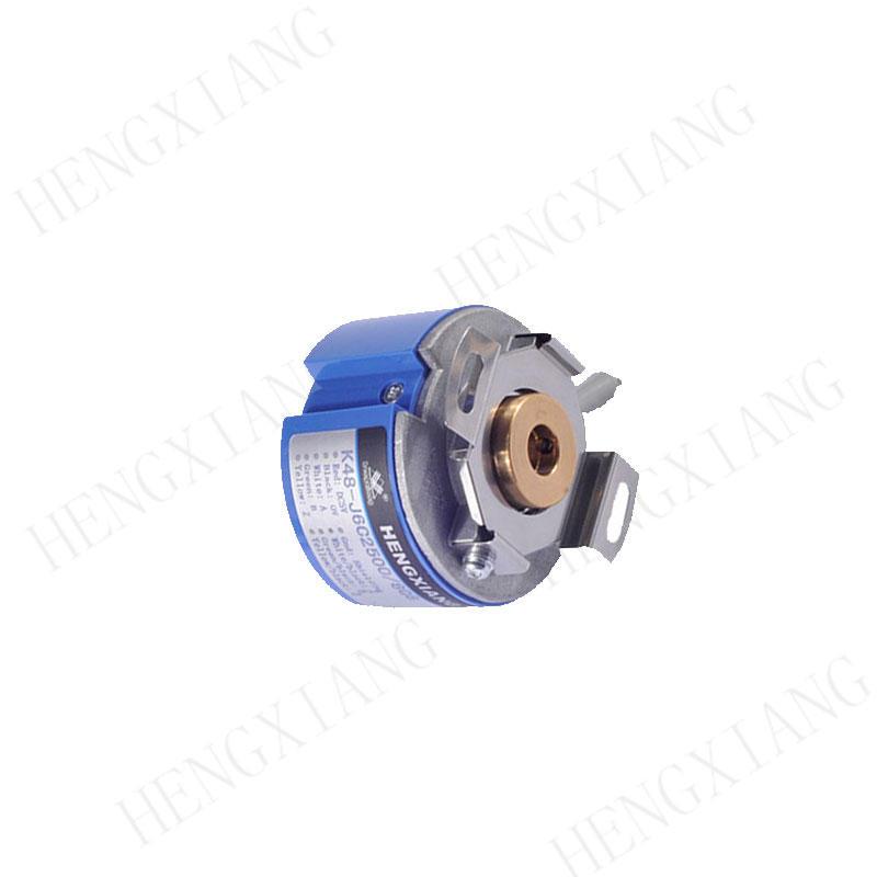 k48 rotary encoder radial encode hollow shaft through hole encoder shaft 8/10/12mm line driver output for servo motor