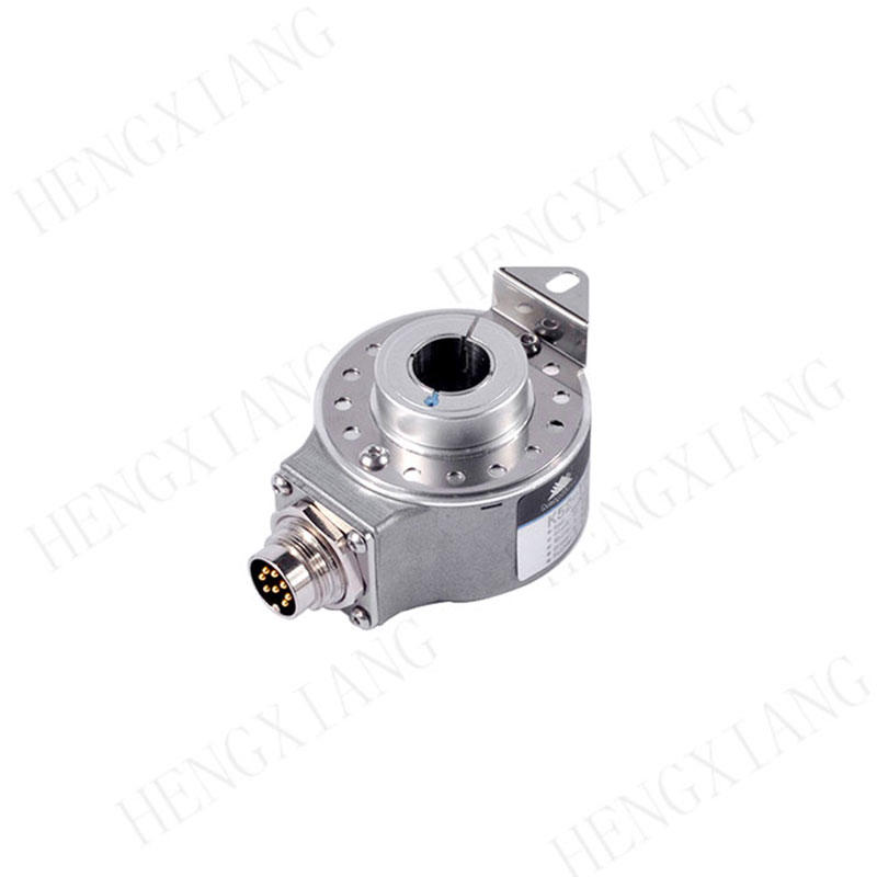 K52 Hollow Shaft Servo Rotary Encoder , Cnc Rotary Encoder Thickness 39mm 8192/16384/23040  resolution 8 poles servo motor rotary encoder  line driver ABZUVW optical encoder price
