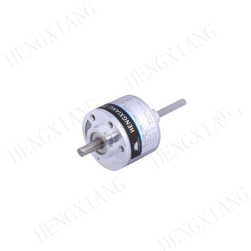 Photoelectric Miniature Single Turn Absolute Encoder , SJ38 10 Bit IP50 Absolute Shaft Encoder