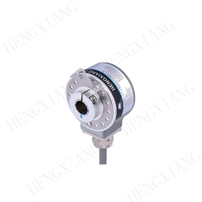 KJ50 Angel Sensor Hollow Shaft Absolute Encoder , Absolute Digital Encoder 1024PPR 10 Bit
