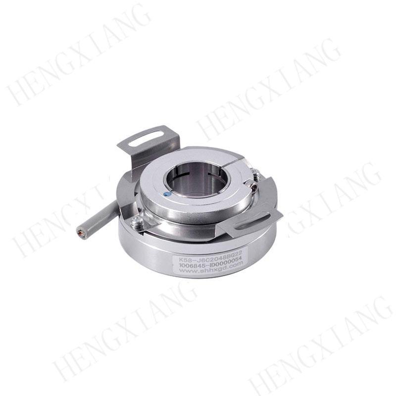 K58 CNC Encoder speed measurement heavy duty encoder external dia 58mm thin24mm 1250/2500/5000/10000/20000 resolution motion encoder