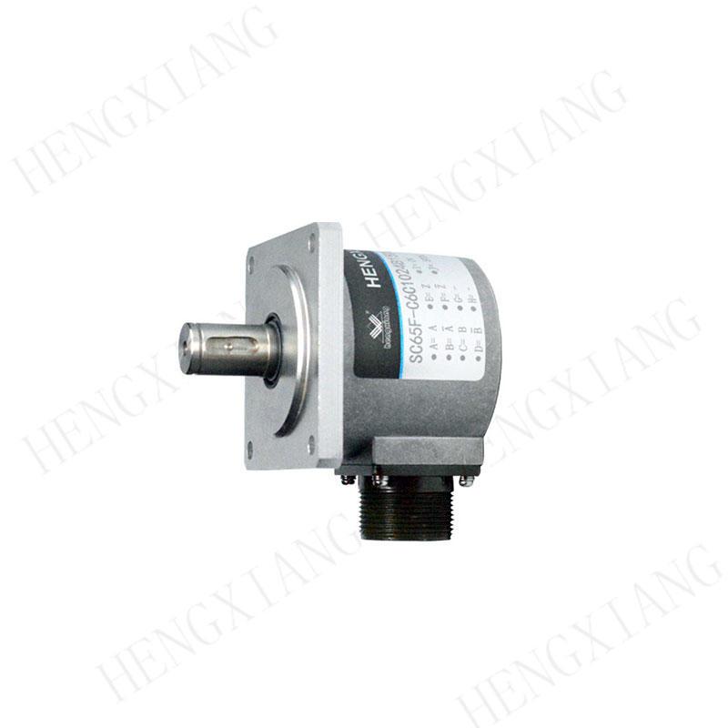 SC65F CNC Encoder Heavy industrial encoder 65mm with 15mm solid shaft rotary encoder 10000ppr square flange 68*68mm digital shaft encoder