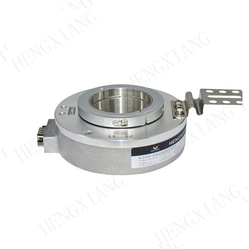 K100 CNC Encoder Radial 9-pin connector high resolution rotary encoder 48000 pulse per rotation shaft hole 30-45mm encoder supplier