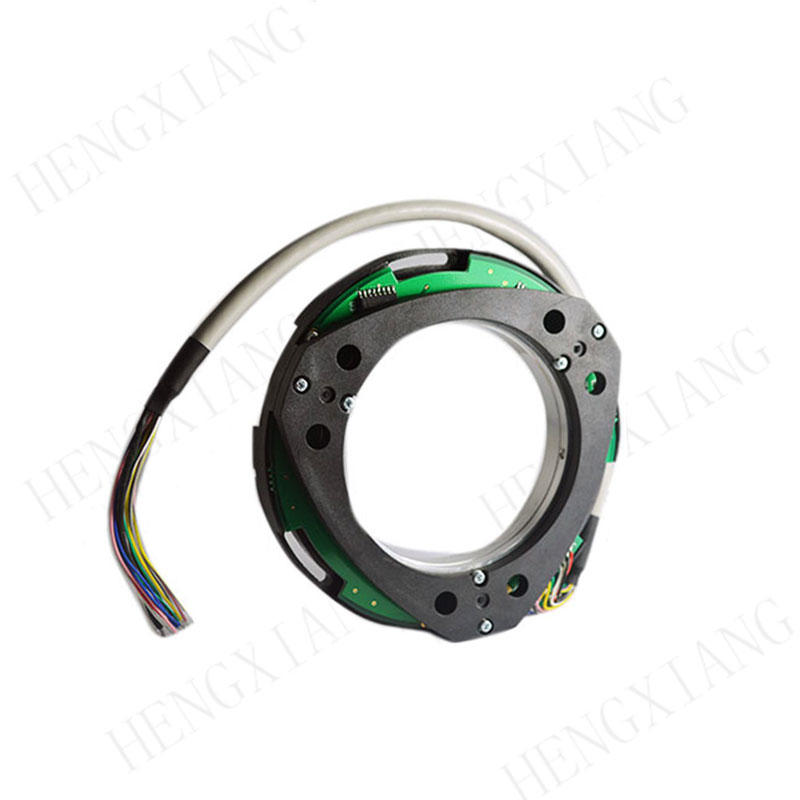 Z100 Extra Thin Encoder  Ultra-thin bearingless encoder thickness 16mm differential output slew speed 5000rpm for high speed motor applications