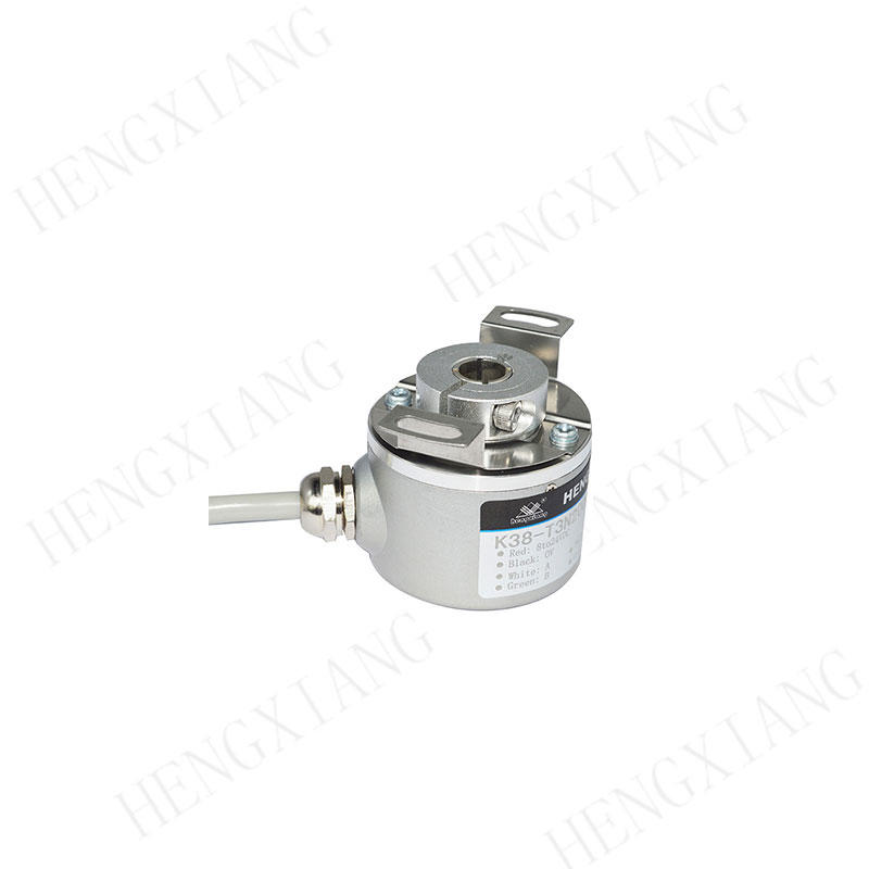 K38 Elevator Encoder Blind hole 8mm shaft ABZ phase NPN/PNP singal output dc5-30v low cost rotary encoder