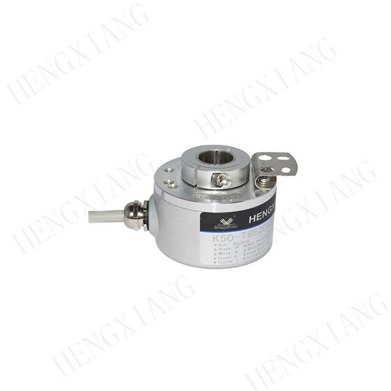K50 Elevator Encoder 8192 resolution NPN/PNP radial or axial incremental encoder 8-15mm hole shaft 0.001 precision rotary encoder