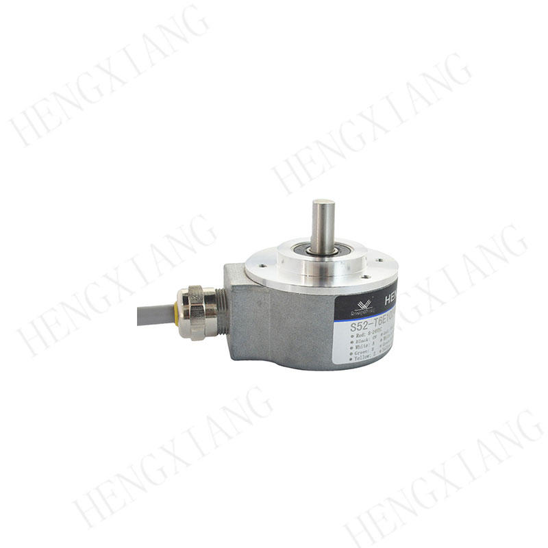 S52 Elevator Encoder 52mm heavy duty encoder external diameter 51mm solid shaft 8mm with 9pin M18 connector HTL output customizable radial encoder