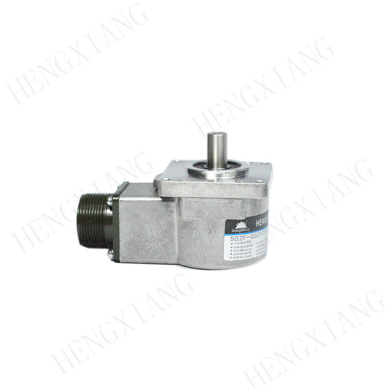 S52F Elevator Encoder 52*52mm Flange encoder photoelectric incremental encoder solid shaft 10mm differential output with MS3106A-18-1S connector