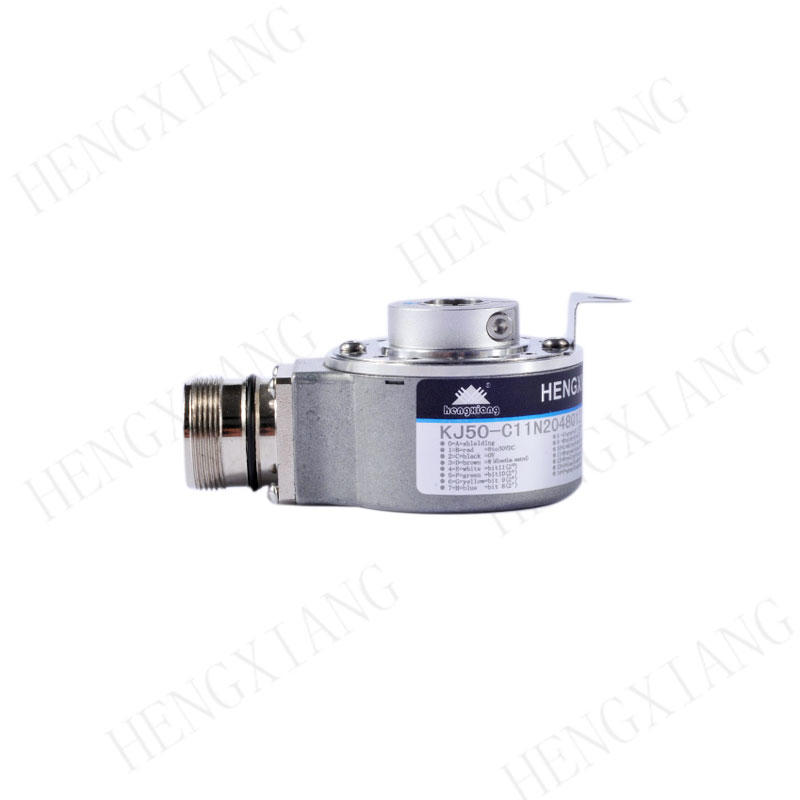 KJ50 hollow shaft encoder blind hole 15mm single turn encoder absolute rotary encoder NPN open collector gray code output  low cost encoder