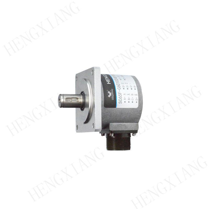 SC65F High Resolution Encoder 23040 pulse heavy duty encoder solid shaft 15mm with keyway 5*5mm Push-pull output rotary encoder sensor