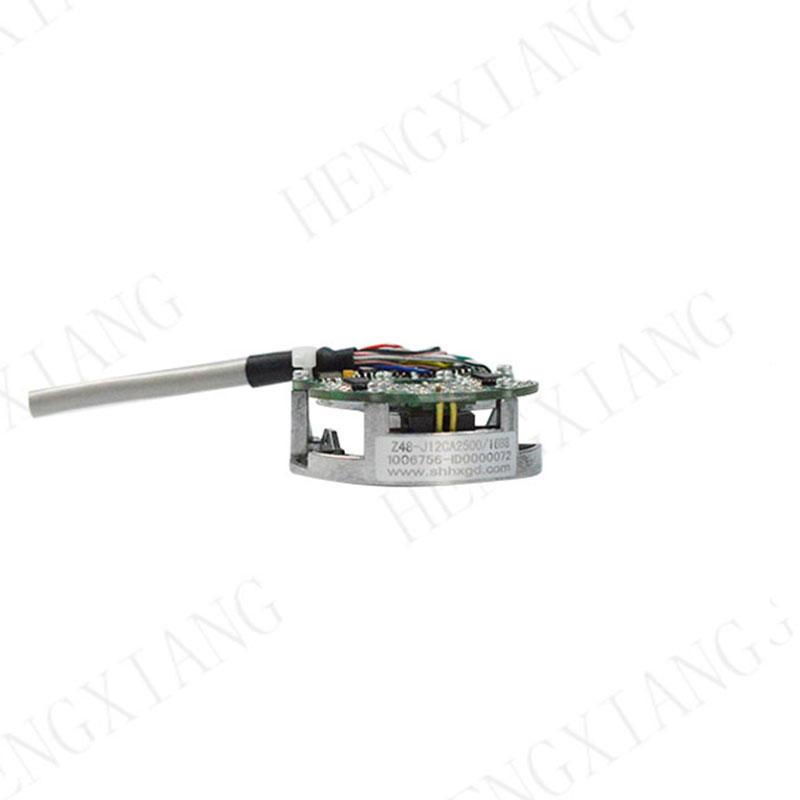 Z48 Robot Encoder outer diameter 48mm thickness 22.5mm ABZUVW TTL/HTL circuit 5-30V 2000ppr 2048ppr 2500ppr 4/6/8 poles