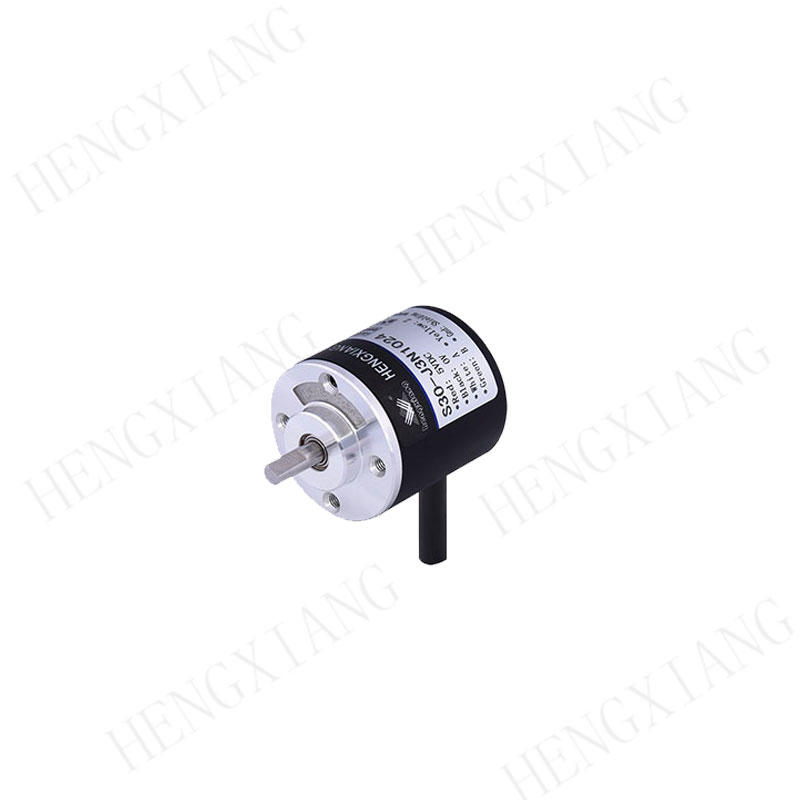 S30 Solid Shaft Encoder Small optical encoder 1024ppr up to 5000rpm aluminum alloy material radiao/axial outlet cable speed encoder