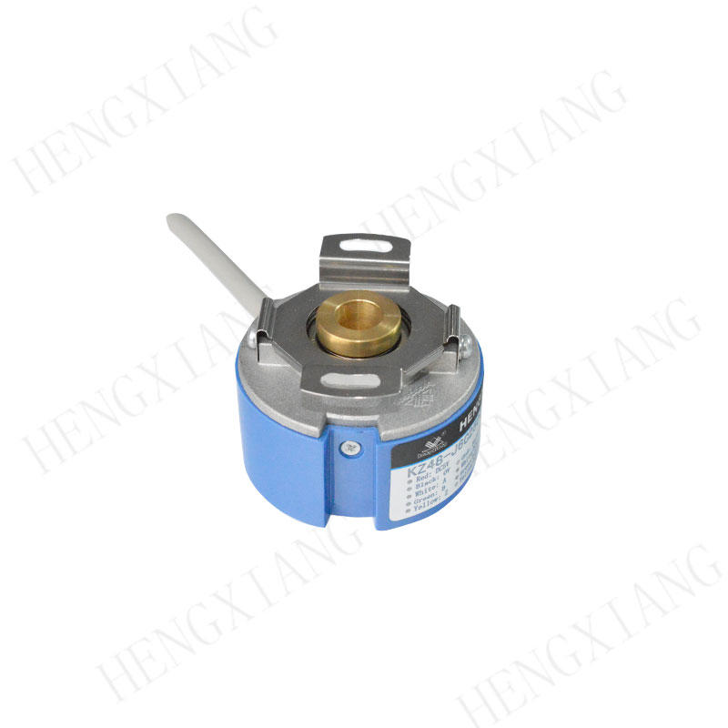 KZ48 hollow shaft encoder Taper shaft encoder shaft 9mm taper (1:10) depth 15mm LD output for servo motor A-ZKD-12-250BM/2P-G05L-C, A-ZD-12-102.4BM-G05L-C