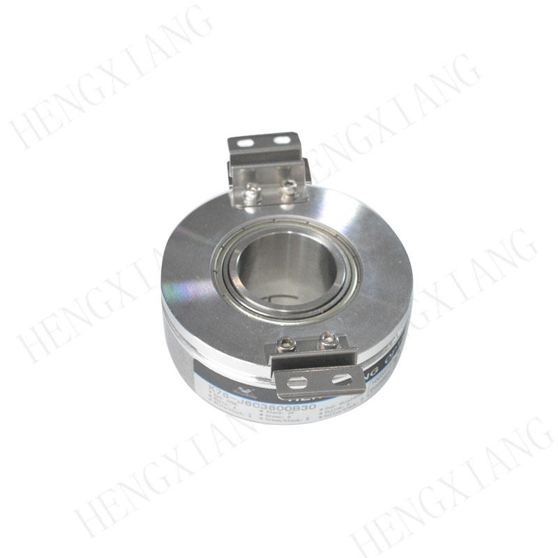 K76 Hollow Shaft Encoder 18-30mm large aperture through hole encoder push-pull circuit external diameter 76mm 5-30VDC stepper encoder