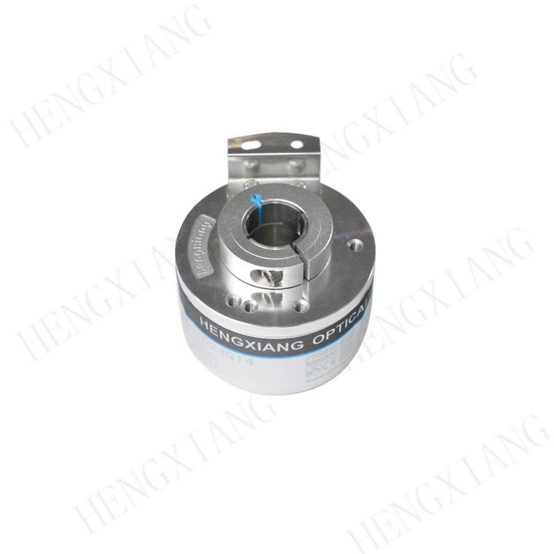 K50 hollow shaft encoder Voltage output max 23040 high resolution rotary encoder cable 1m customizable angular encoders