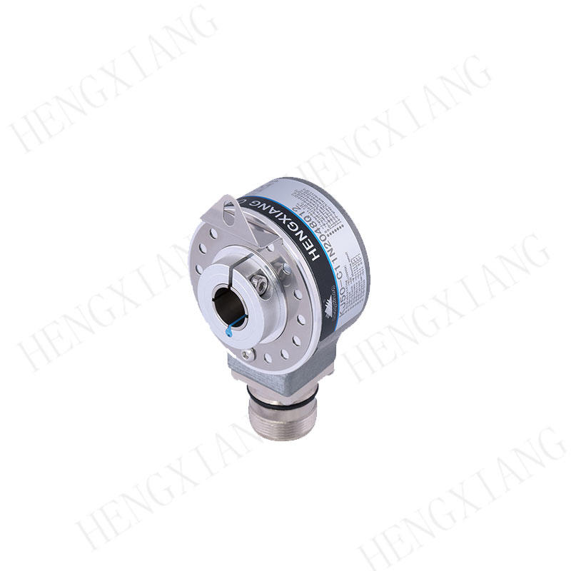 KJ50 binary encoder hollow shaft absolute encoder 8-15mm shaft single turn gray code output 10 bit dc8-30v for sensor optical absolute encoder