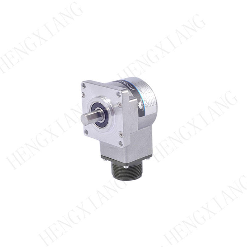 S52F mouting size 44*44mm conventional incremental encoder line driver circuit RS422 5V flange encoder with radial socket Max 23040ppr precision rotary encoder