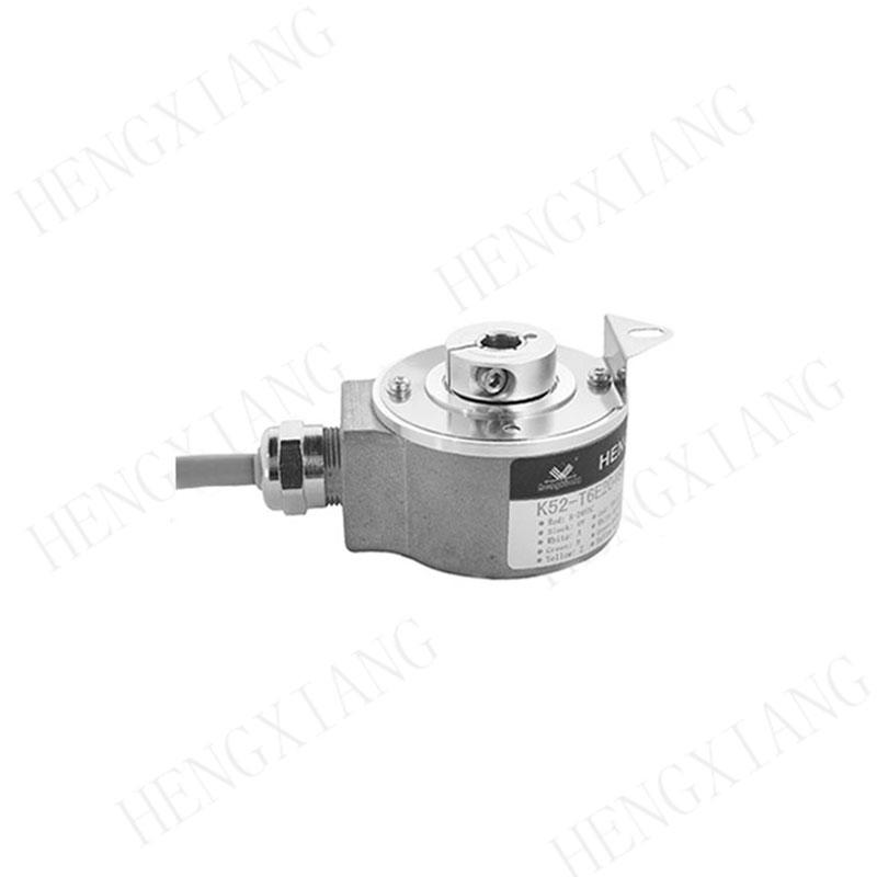 K52 incremental encoder radial M18 connector hollow shaft rotary encoder industrial encoder shaft 14mm thickness 39mm 5 pin rotary encoder for motor