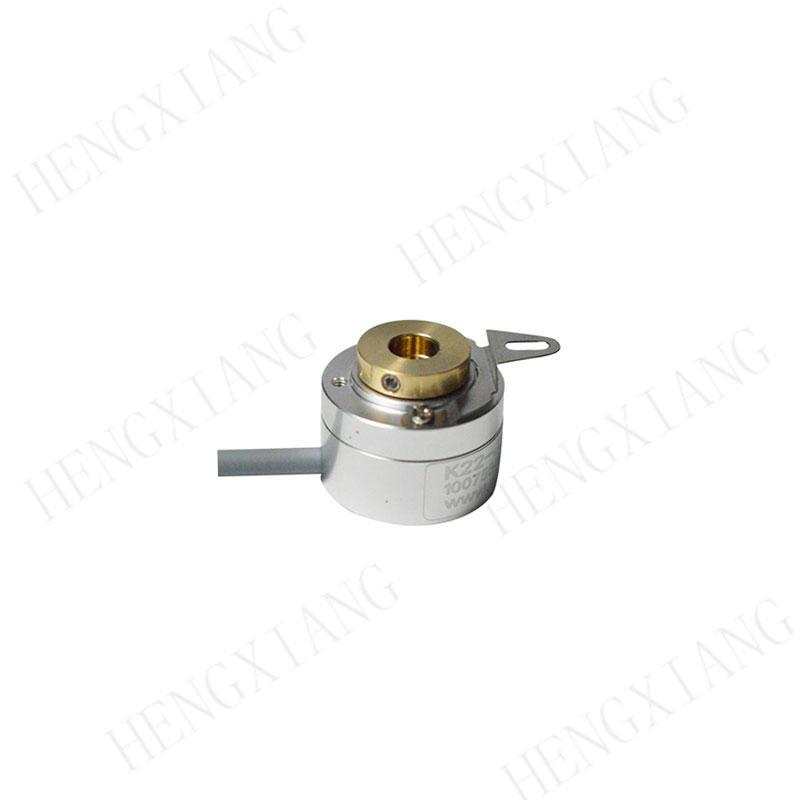 K22 incremental encoder Miniature optical encoder resolution 1024ppr hollow shaft encoder 6.5mm hole line driver circuit 5-30V