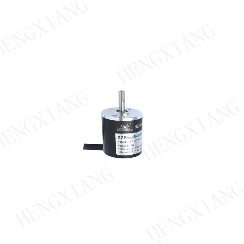 S25 incremental encoder mini solid encoder axial outlet cable length 1000mm shaft length14.5mm totem pole diameter 25mm 600ppr for robot encoder products