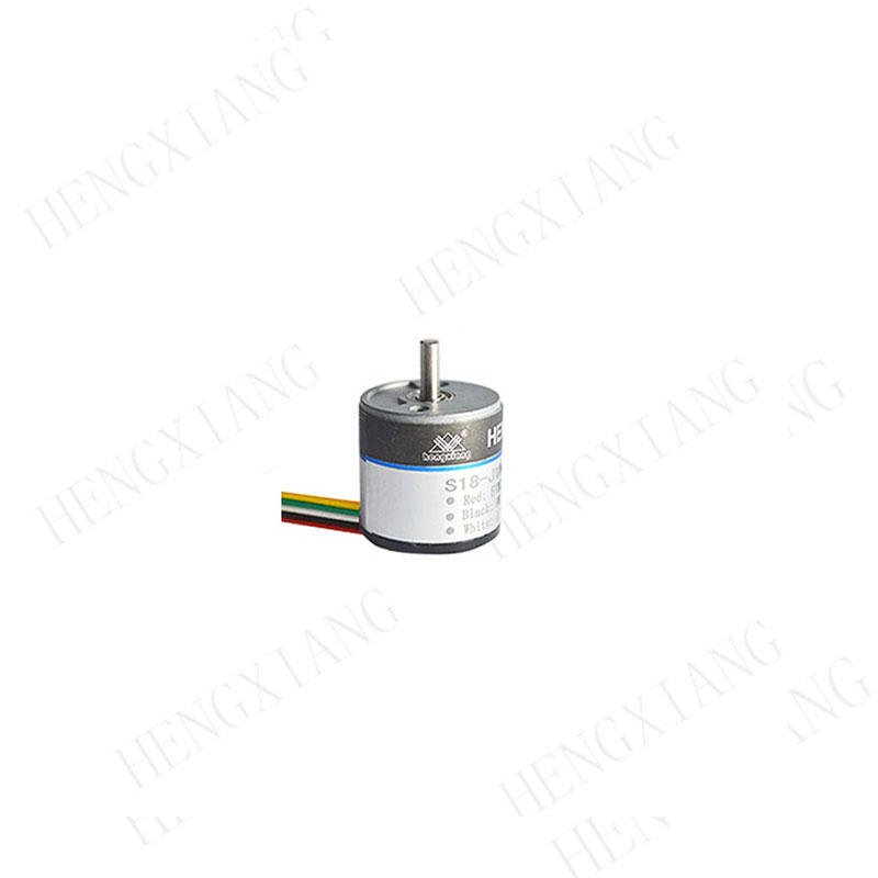 S18 incremental encoder  low cost rotary encoder 18mm miniature rotary encoder ABZ phase NPN output up to 1600 resolution for subminiature motor