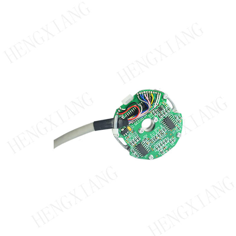 Z48 incremental encoder 8mm through hole low cost encoder easy to install max 2500ppr ABZUVW phase  extra thin for measuring instrument