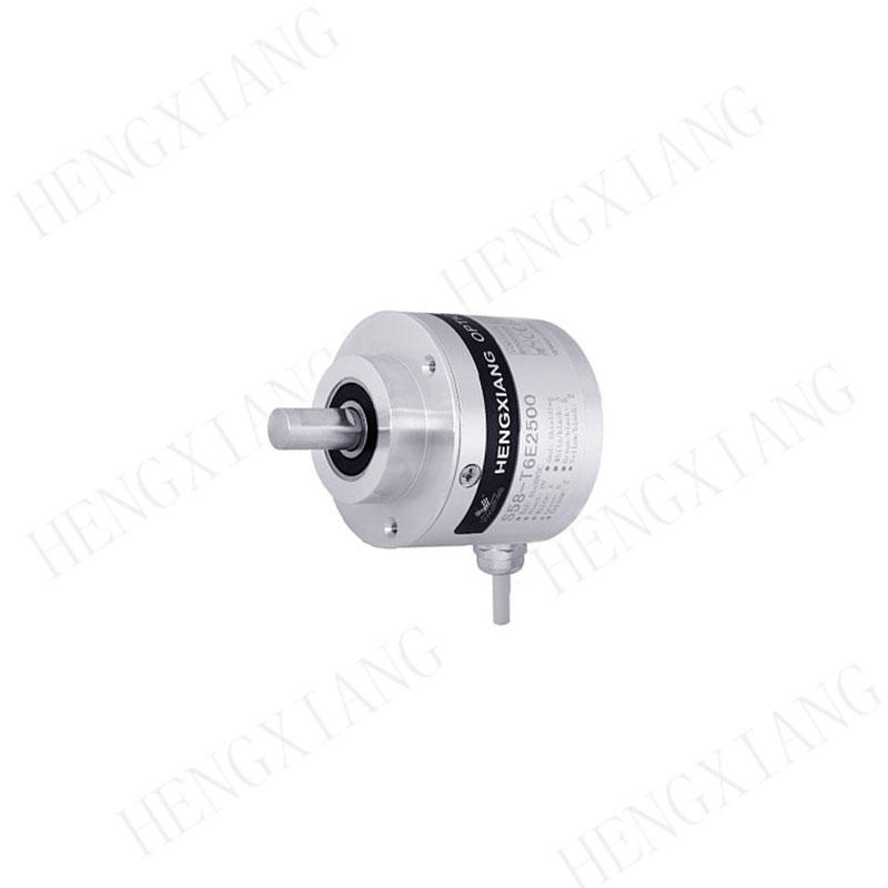 S58 incremental encoder Push-pull complementary output with alarm/sensing outer diameter 58mm 10mm solid shaft rotary encoder up to 23040 pulse resolution position encoder