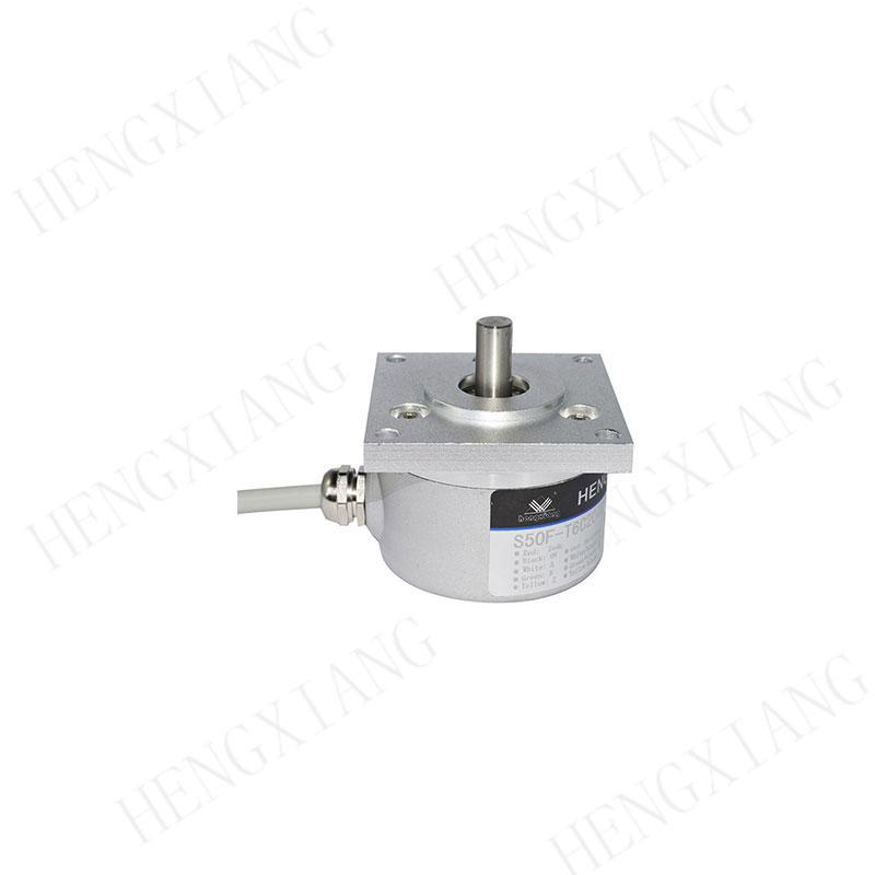 S50F incremental encoder flange encoder flange 52*52mm solid shaft 8mm line driver output cable length 1000mm with Binder 682 series connector cnc encoder