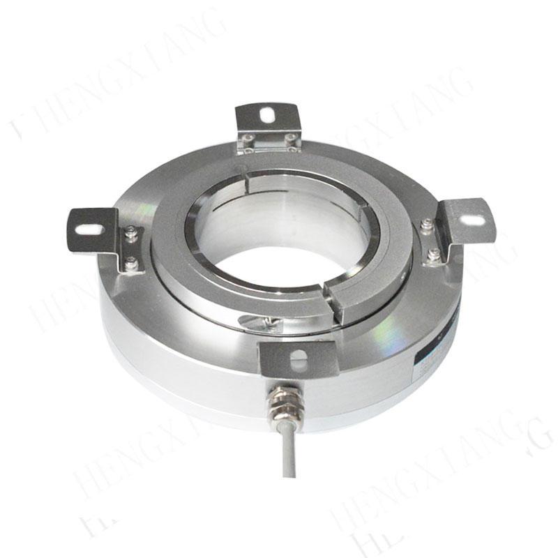 K158 incremental encoder through hole 70/75/78/80/82mm hollow shaft encoder thickness 43mm aluminum alloy material IP50 high precision encoder