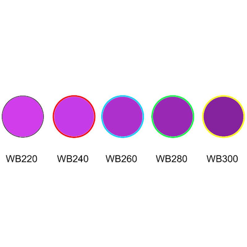 uviol glass UV colored glass Ultra violet Glass WB220 WB240 WB260 WB280 WB300