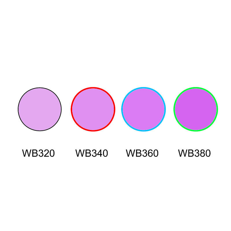 Cut-off filter ultra violet colored glass WB320 WB340 WB360 WB380