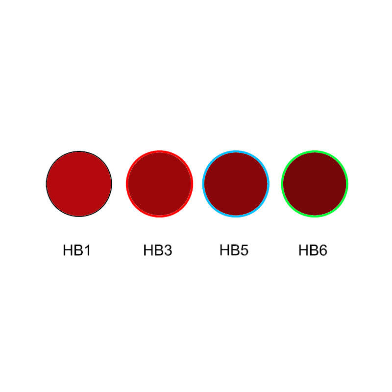 Red color cut off glass optical filter HB1 HB3 HB5 HB6