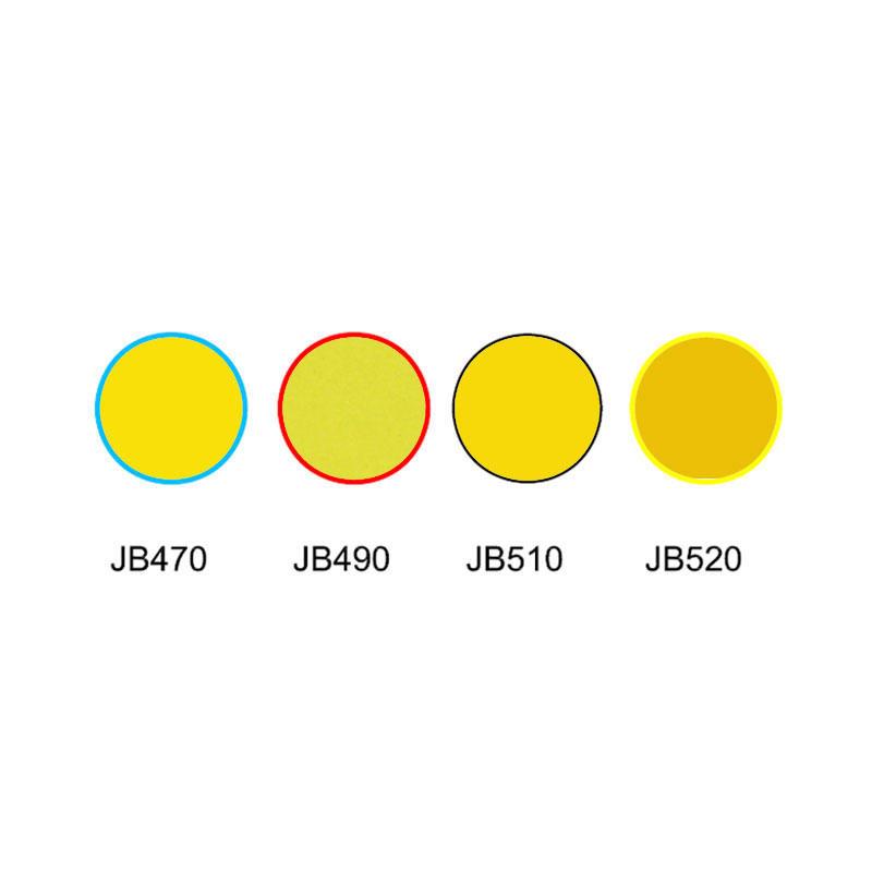 Golden glass yellow colored glass filter JB470 JB490 JB510 JB520