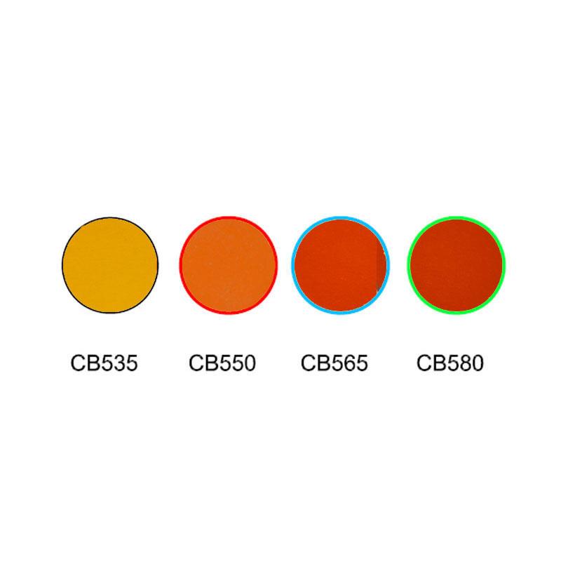 Orange glass color filter cut-off glass filter CB535 CB550 CB565 CB580