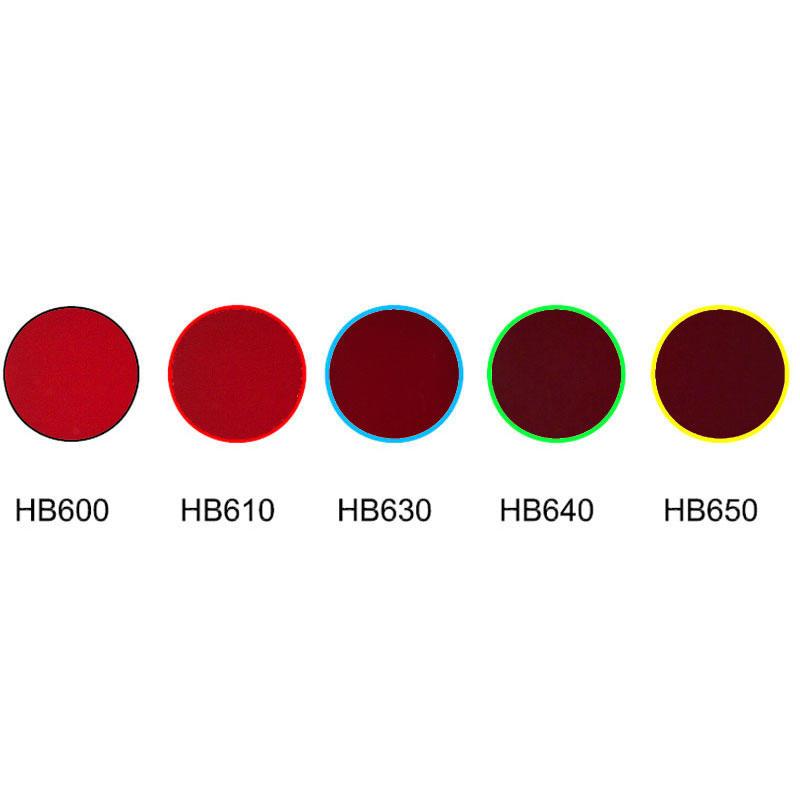 Red glass colored filter optical cut off glass HB600 HB610 HB630 HB640 HB650