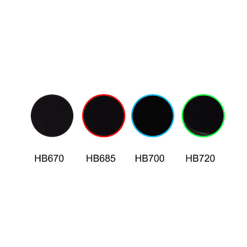 Red cut off filter, colored glass transmittance over 90% HB670 HB685 HB700 HB720