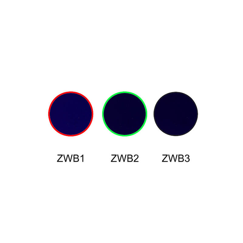 UV transmission visible absorption glass color filter ZWB1 ZWB2 ZWB3