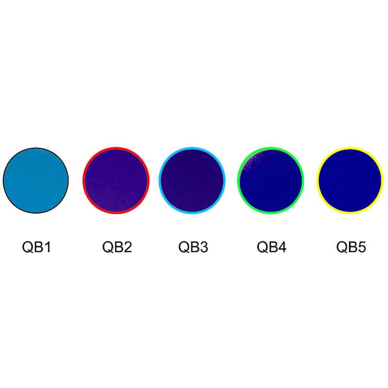 Blue glass absorption optical colored filters QB1 QB2 QB3 QB4 QB5