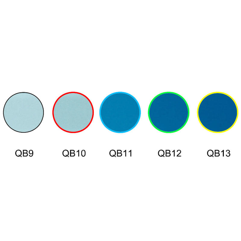 blue colored absorption optical glass filter QB9 QB10 QB11 QB12 QB13