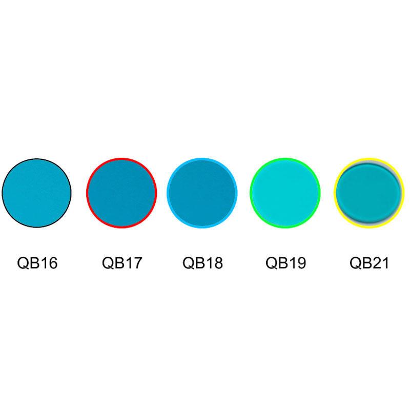 blue color glass ultramarine color filters optical glass QB16 QB17 QB18 QB19 QB20 QB21