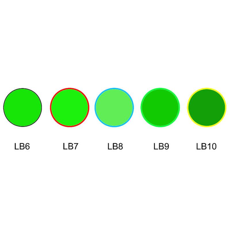 Green optical glass slective absorption type glass LB6 LB7 LB8 LB9 LB10
