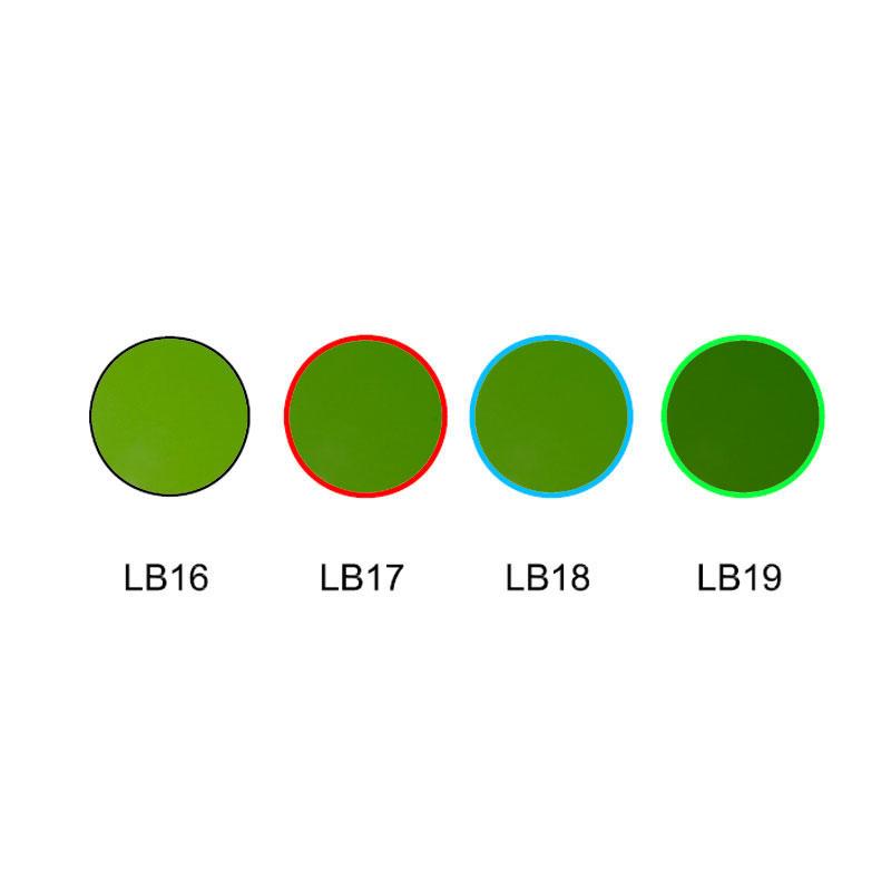Green color glass Cost effective colour glass filters LB16 LB17 LB18 LB19
