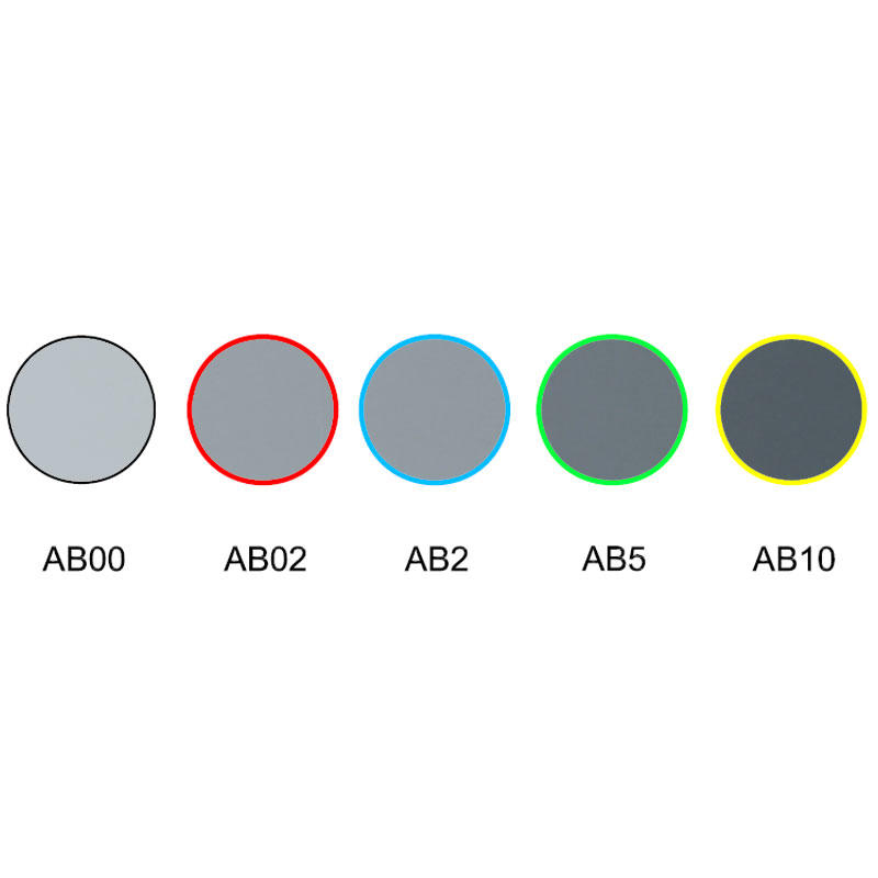 Neutral grey colored glass optical color filter AB00 ZB02 AB2 AB5 ZB10